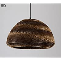 KHSKX Bozzoli del lampadario di carta kraft di tessuti a mano bowl type