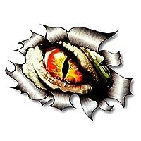 Sticar-it Ltd RIPPED TORN METAL Vinyl Car Sticker Evil Eye Monster Inside JDM Drift Large 205x160mm approx.