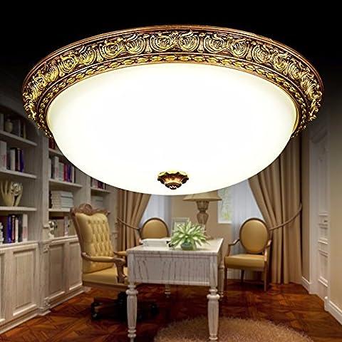 Continental luce a soffitto Home e atmosfera accogliente camera da letto corridoio Lampade Led, ZF8099- meno di 10 pollici (LED)