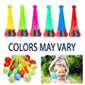 Water Balloons, 222pcs 6 Bunches Multi-color Perfect Instant Water Balloons Bombs Outdoor Toy and Summer Fun Toy for Kids & Adults