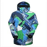 HXRYFC Chaqueta de esquí Impresa Hombres-Snowproof, Extra Calor, Dobladillo Ajustable, puño