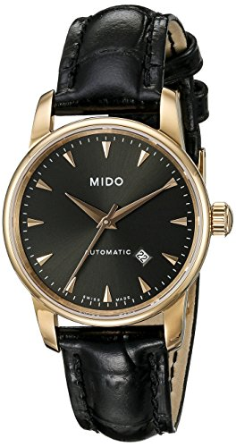 Mido Women's Analogue Watch with Grey Dial Analogue Display and Leather - M76003134