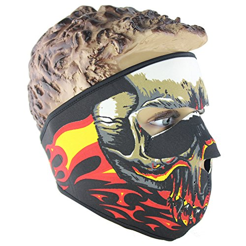 Lmeno Schädel Skelett Gesichtsmaske Ghost Style Balaclava Schädel Maske Motorrad Radfahren Cosply Kostüm Sport Ski Skifahren Snowboard Snowmobile - Typ (D Kostüm)