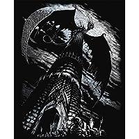 Royal & Langnickel - Lámina para grabado (20,3 x 25,4 cm), diseño de torre con dragón, color plateado