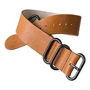 ZULUDIVER hy-189.2101s-5r-241.3-ipb-20–Bracelet de cuir, couleur marron (20)