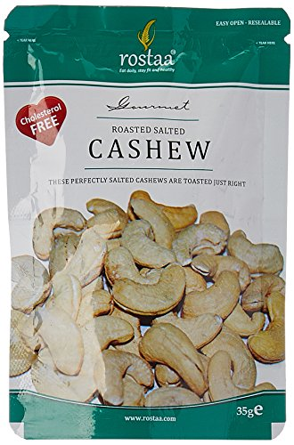 Rostaa Mini Pouch Roasted Salted Cashew, 35g