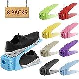 organizador zapatos Soporte de calzado | organizador de calzado con ranura (8PCS) Ahorro de espacio...