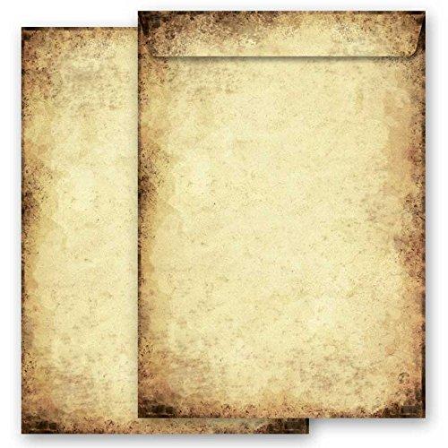 Motiv Briefumschläge ALTES PAPIER , 10 C4 (229×324 mm) Briefumschläge ohne Fenster, Selbstklebend mit Abziehstreifen