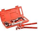 Flabor Bördelgerät Bremsleitung Werkzeug Bördelwerkzeug Bremse, 10-Teilig, mit Rohrbiegezange