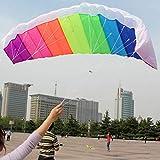 Lorenlli 1,4m Rainbow Dual Line Kitesurfing Stunt Fallschirm Soft Parafoil Surf Kite Sport Kite Outdoor-Aktivität Beach Flying Kite
