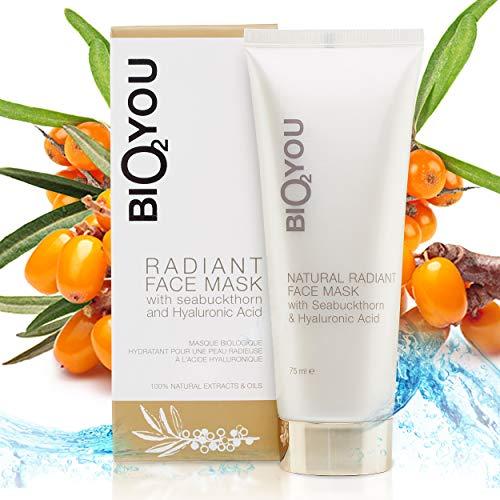 Masque naturel radiant à l'effet illuminé à l'acide hyaluronique Kaolin naturel Huile de coco Aloe vera et huile d'argousier