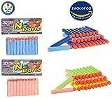 #10: Bullets for Toy Guns Set of 60 by Wishkey | Multicolor Universal Soft Foam Dart for Blaster, Blaze Storm, Nerf Strike Elite Guns | Target Game for Kids or Adults