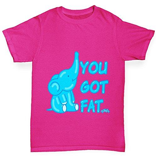 TWISTED ENVY Mädchen T-Shirt You Got Fat Print Age 12-14 Rosa