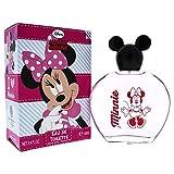 Disney Minnie Mouse Eau de Toilette 100 ml - Natural Spray im schönen Glasflakon mit Minnie Mouse Kugel-Verschluss, 1er Pack (100ml)