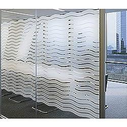 LEMON CLOUD Film Autocollant de Fenêtre de Verre Translucide en pour la Décoration d Lntérieur et de la Protection de la Vie Privée (90cmx200cm)