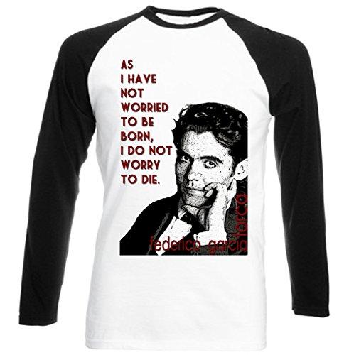 Teesquare1st Men's FEDERICO GARCIA LORCA Black Long Sleeved T-shirt