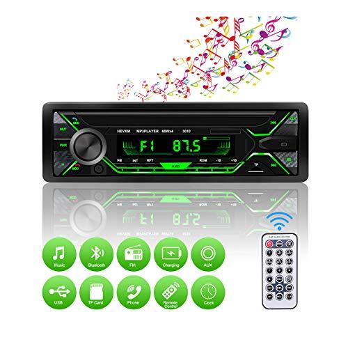 Autoradio Bluetooth, Radio de Coche 4 x 60W, Soporta Llamadas Manos Libres RDS/MP3/FM/AM/SD/AUX/USB Archivo y Control Remoto Inalámbrico