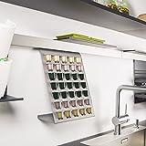 SO-TECH® Linero MosaiQ Kapselhalter Titan grau für 35 Nespresso Kaffee Kapseln passend für Linero Nischensystem
