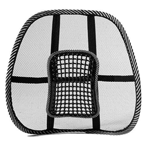 Favolook cuscino lombare in tessuto a rete, ventilato e traspirante, per tutti i tipi di sedili dell'auto o sedie dell'ufficio