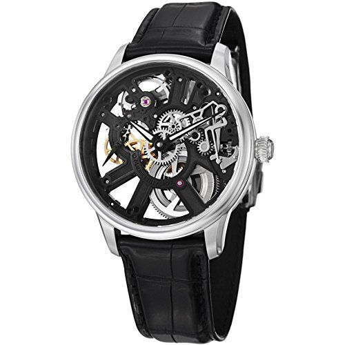 MAURICE LACROIX MASTERPIECE MP7228-SS001000 GENTS BLACK CALFSKIN 43MM WATCH