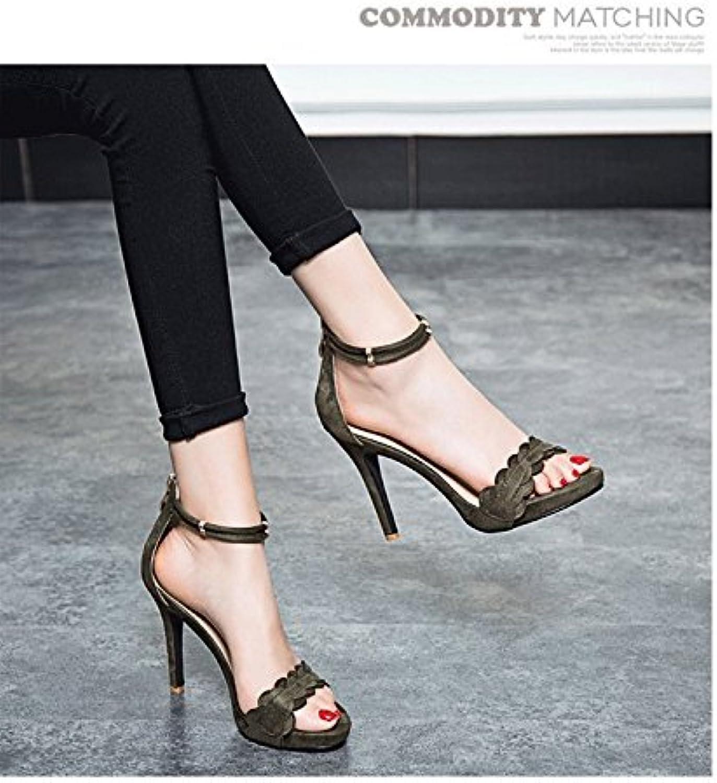 769c420a22e3ba yalanshop high heeled sandales femmes bien bien bien rosée femmes seules  chaussures étanches, Vert 39 b07c9ytbj4 parent   Moderne Et élégant à La  Mode ...