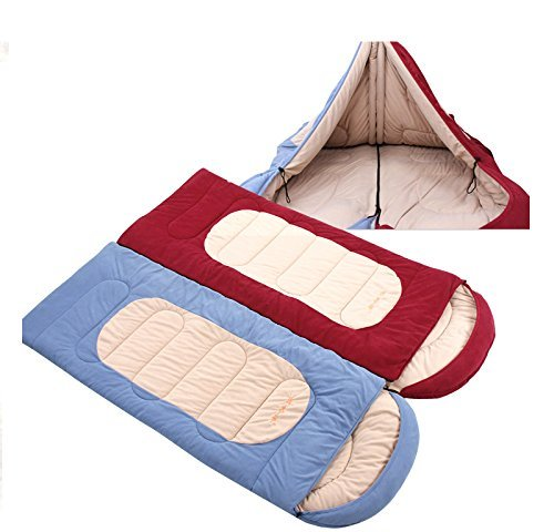 51nlyNiSeOL - Camping sleeping bags, Thick winter sleeping bag HLY-S8899H warm fleece envelope camping sleeping bag (blue) ,Sleeping bag
