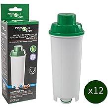 12 x FilterLogic CFL-950B - cartuccia filtrante / filtro acqua per macchine da caffè De'Longhi / DeLonghi - sostituisce DLS C002 / DLSC002 / SER3017 / 5513292811 per modelli ECAM ESAM ETAM EC680 BCO