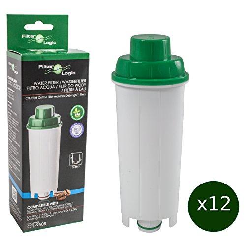 12 x FilterLogic CFL-950B - Wasserfilter für DeLonghi Kaffeemaschine - ersetzt DLS C002 / DLSC002 /...