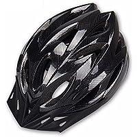 Hoovo Casco de Bicicleta con Ajustable Ligero Casco de Bicicleta de Montaña Racing breezier para Hombres y Mujeres (Negro)