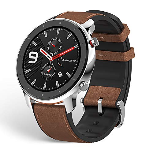 Amazfit GTR 47mm GPS Smart Watch with All-Day Heart Rate and Activity Tracking,Ultra-Long Battery Life (Stainless Steel)