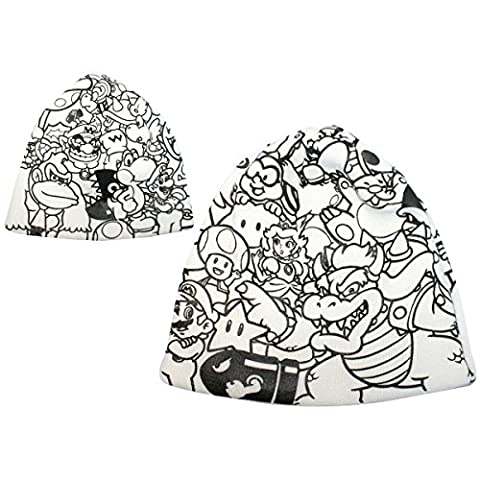 Nintendo Beanie Super Mario Bros. Allstars Characters White Cap Mütze Strickmütze