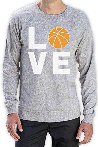 Love Basketball - Sportliches Geschenk für Freunde Langarm T-Shirt Grau