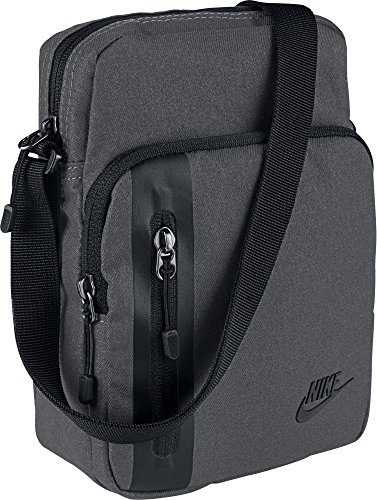 Nike Uni Core S Items 3.0 Schultertasche, Dark Grey/Black, 23 cm