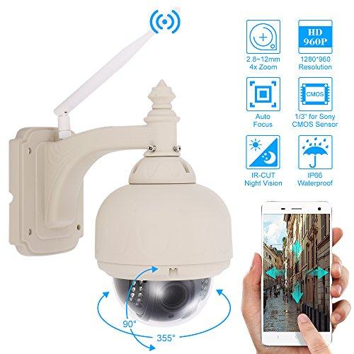 Szsinocam 3,5 Zoll HD 960P Wireless WiFi PTZ IP Kamera 2,8 ~ 12 mm Autofokus 1/3 Zoll CMOS 18pcs IR-Lampen IR-CUT Wasserdichte Motion Detection CCTV Nachtsichtkamera für Home Security