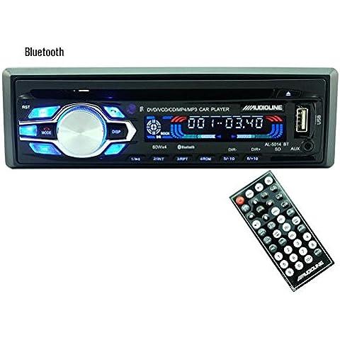 Audio estéreo del coche, POTOBrand, Bluetooth + puntos de desempate del micrófono y ID3 jugar CD en el tablero Aux entrada receptor SD USB MP3 Radio