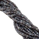 LOVEKUSH 50% Off Gemstone Jewellery 1 Strand Natural Labradorite Beads Mystic Coated Microfaceted Rondelles 12mm 4 Inch Code:- RADE-16942