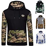 Search : Men's Hoodie,Slim Fit Leisure Mens Autumn Winter Camouflage Hooded Hoodie Long Sleeve Sweatshirt Drawstrings Tops Jacket Coat Outwear