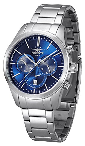 FIREFOX FFS270-103 Herren-Armbanduhr Edelstahl Chronograph 10 ATM wasserdicht Sunray blau