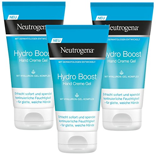 Neutrogena Hydro Boost Crema de manos gel, 3 Pack (3 x 75 ml)