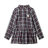 Steiff Baby - Mädchen Kleid, Mehrfarbig (BLACK IRIS 3032),116