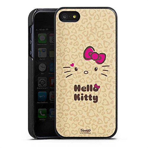 DeinDesign Apple iPhone 5s Lederhülle Leder Case Leder Handyhülle Hello Kitty Merchandise Fanartikel Leo