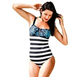 SUCES Damen Badeanzug Strand Bademode Raffung Strand Badeanzüge One Piece Monokini Frauen High Waisted Sportlich Reizvolle Rüschen Swimsuit Push-up Rückenfrei Schwimmanzug Tankini (L, White)