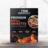 TOM COCO BBQ 10 kg Premium grillbriketten van kokosnootschalen, zwart