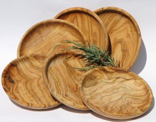 set-piatto-lamamma-6pezzilegno-di-ulivo-con-molto-bella-venaturaoliatodiametro-ca-15cm-altezza-ca-3c
