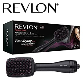 revlon rvha6475uk - 51nm29 2Bm4zL - Revlon RVHA6475UK Perfectionist 2-in-1 Ionising Paddle Brush Hair Dryer Womens