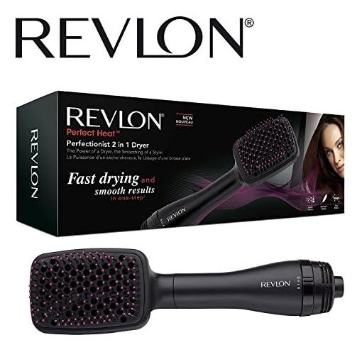revlon rvha6475uk - 51nm29 2Bm4zL - Revlon RVHA6475UK Perfectionist 2-in-1 Ionising Paddle Brush Hair Dryer Womens
