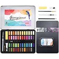DazSpirit 48 Colores Caja Acuarelas Profesionales & Papel de Acuarela. Versátil, Vibrante y Portátil