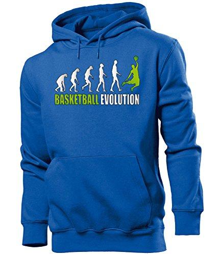 BASKETBALL EVOLUTION 527 Herren Hoodie (HKP-B-Weiss-Grün) Gr. XXL
