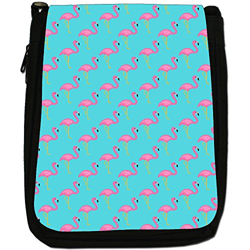 Fancy A Snuggle, Borsa a spalla donna Pink Flamingos Diagonal Design