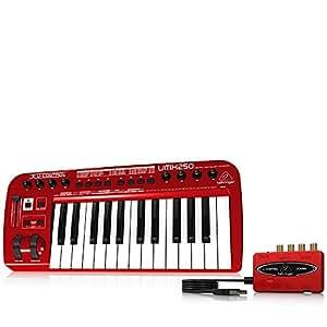 Behringer UMX250 U-Control 25 Key USB/MIDI Controller Keyboard with USB/Audio Interface